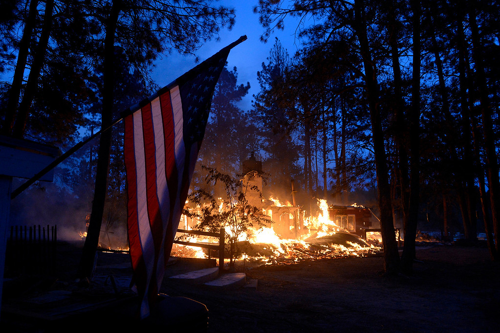 . Pat Turner\'s home on Tia Lane burns to the ground in the Black Forest fire on June 12, 2013. The Turner family had lived there for 49 years.
