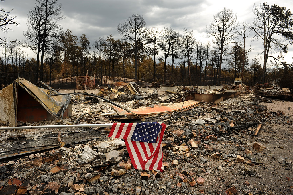 . BLACK FOREST, CO - JUNE 17:   Remnants of a home in the Black Forest Fire on June 16, 2013.  Photo by Helen H. Richardson/The Denver Post)