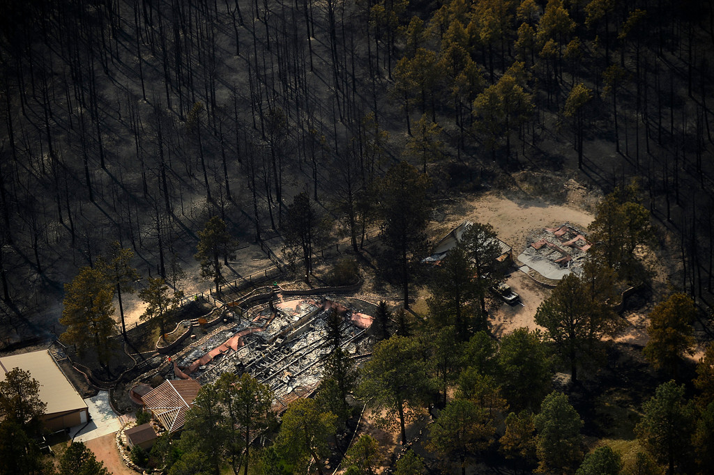 . COLORADO SPRINGS, CO. - June 13: Damage from the east edge of the Black Forest Fire Colorado Springs, Colorado. June 13, 2013 Denver, Colorado Springs. (Photo By Joe Amon/The Denver Post)
