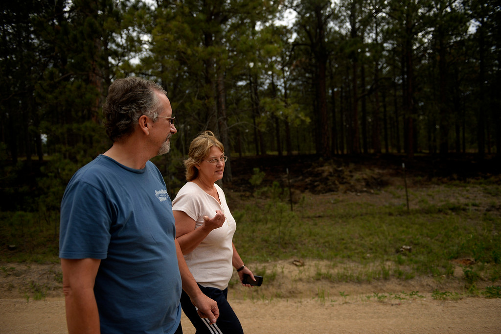 . COLORADO SPRINGS, CO. - June 17: Some residents were allowed back into the northern edge of the Black Forest Fire area near Colorado Springs, Colorado. June 17, 2013 Denver, Colorado Springs. (Photo By Joe Amon/The Denver Post)