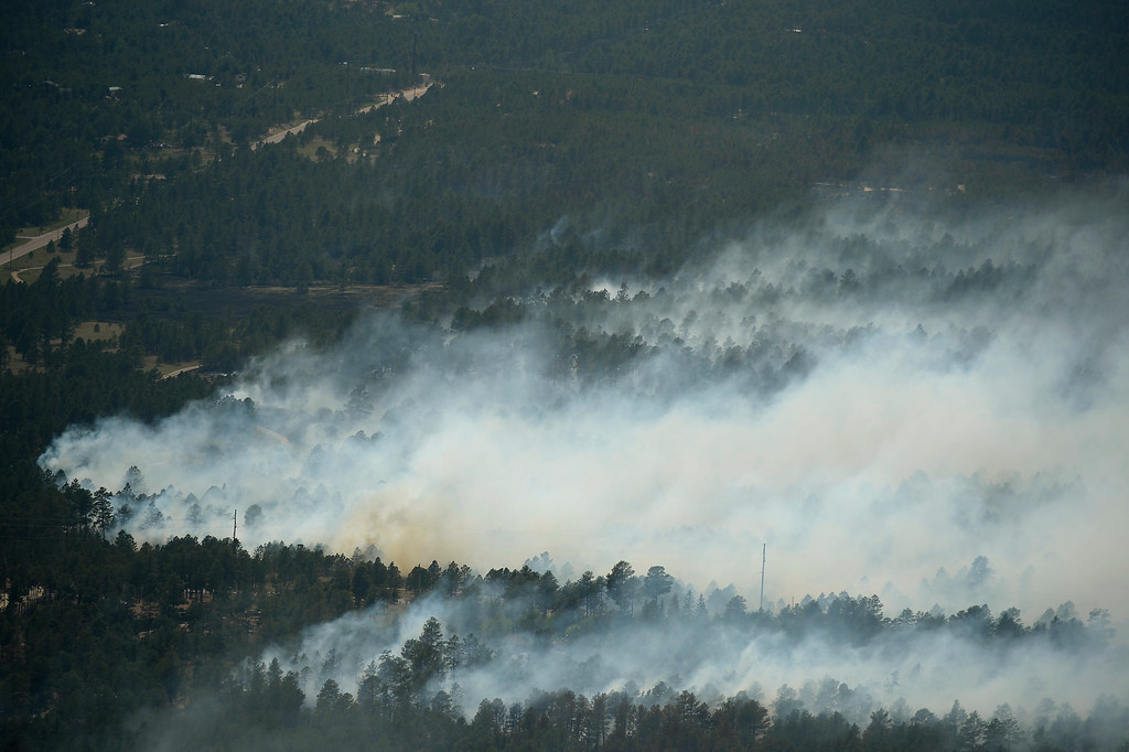. COLORADO SPRINGS, CO. - June 13: Damage from the east edge of the Black Forest Fire Colorado Springs, Colorado. June 13, 2013. (Photo By Joe Amon/The Denver Post)