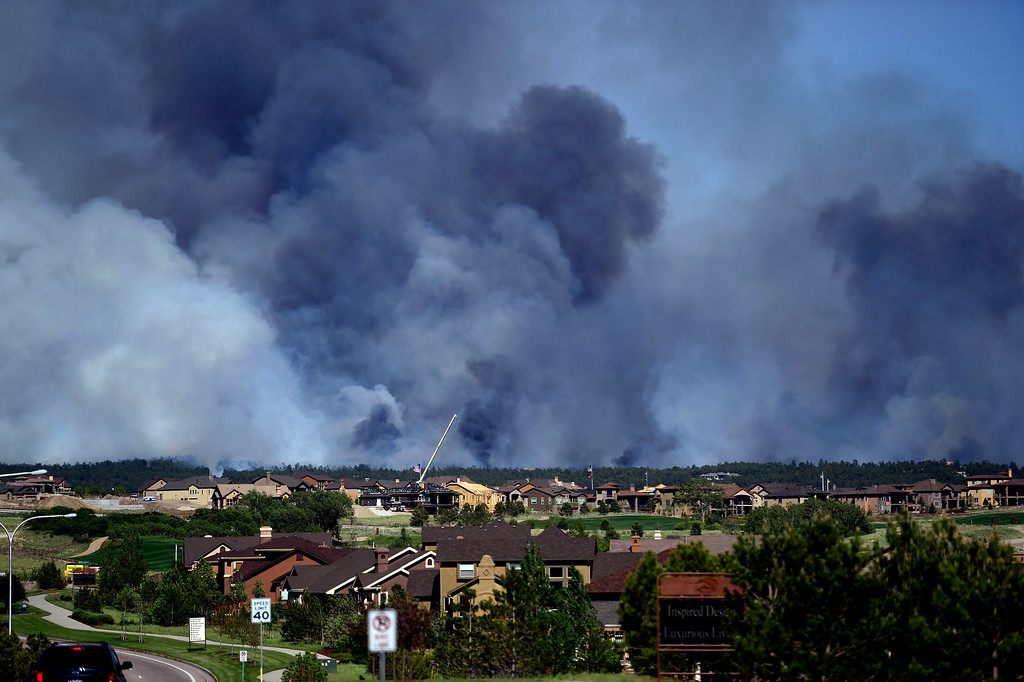 . COLORADO SPRINGS, CO - JUNE 11: The Black Forest fire burns east of Colorado Springs. (Photo by AAron Ontiveroz/The Denver Post)