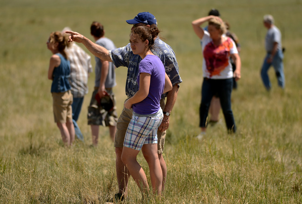 . COLORADO SPRINGS, CO. - June 12: People are watching the Black Forest fire. Colorado Springs, Colorado. June 12, 2013. According to El Paso County Sheriff Terry Maketa, the Black Forest Fire north of Colorado Springs has already burned 80 to 100 homes. (Photo By Hyoung Chang/The Denver Post)
