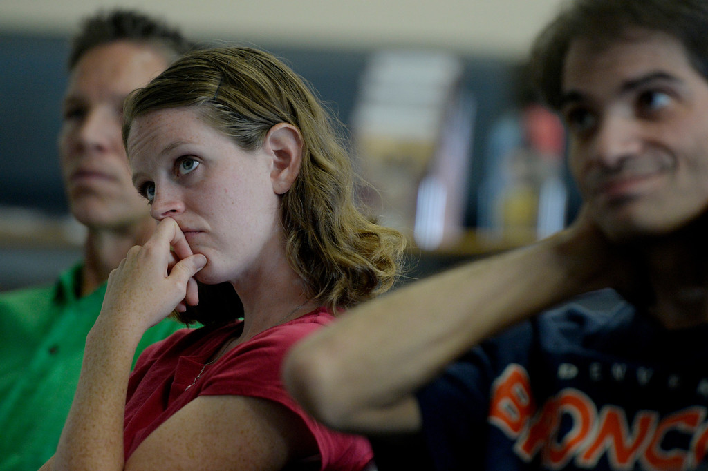 . CENTENNIAL, CO. - JULY 27: Catherine Williams watches a presentation during a Multi-State Concealed Carry class at the Centennial Gun Club Training Center in Centennial, CO, July 27, 2013. The number of people seeking a concealed carry gun permit in Colorado has increased by 87 percent from last year. Williams said she decided to take the class after seeing a recent video of a New Jersey mother being beaten during a home invasion. (Photo By Craig F. Walker / The Denver Post)