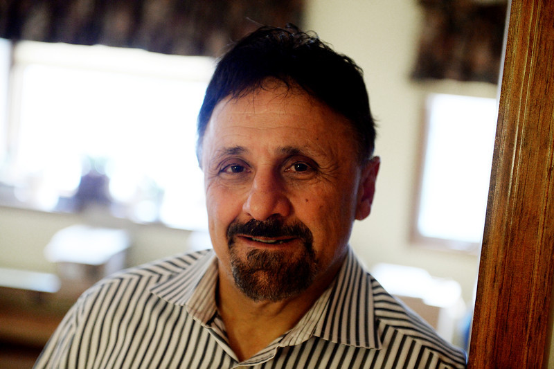 . Columbine High School Principal Frank DeAngelis, at his home in Thornton, plans to retire at the end of the school year, May 02, 2014.  (Photo by RJ Sangosti/The Denver Post)