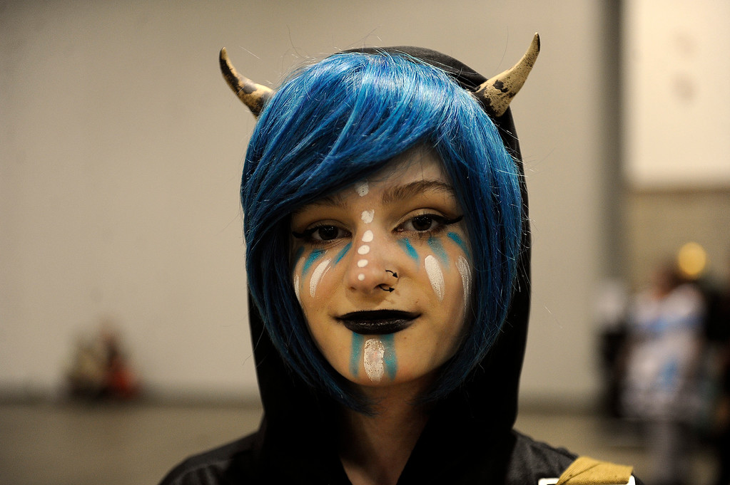 . Skye Berkowitz, 15, of Golden, Colorado dressed as he own custom character during Denver Comic Con at the Colorado Convention Center in Denver, Colorado on June 14, 2014. (Photo by Seth McConnell/The Denver Post)