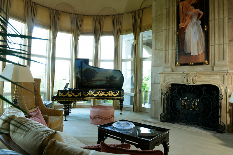 . Visit to the home that has just been placed on the market for $18 million. The 11 bedroom, 24 bathroom home is in Douglas County on Wednesday, July 2, 2014 in Parker, Colorado. The entry room with piano. (Denver Post Photo by Cyrus McCrimmon)