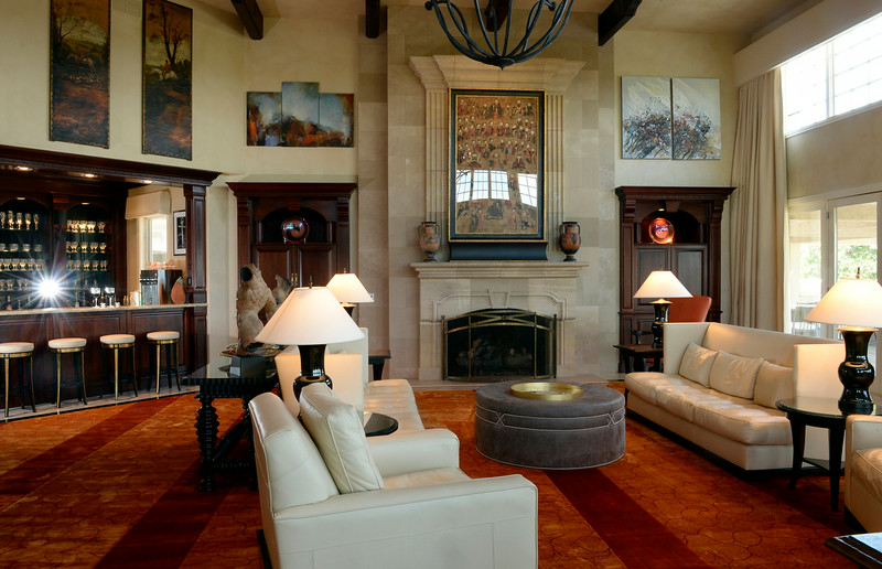 . Visit to the home that has just been placed on the market for $18 million. The 11 bedroom, 24 bathroom home is in Douglas County on Wednesday, July 2, 2014 in Parker, Colorado. Living room.  (Denver Post Photo by Cyrus McCrimmon)