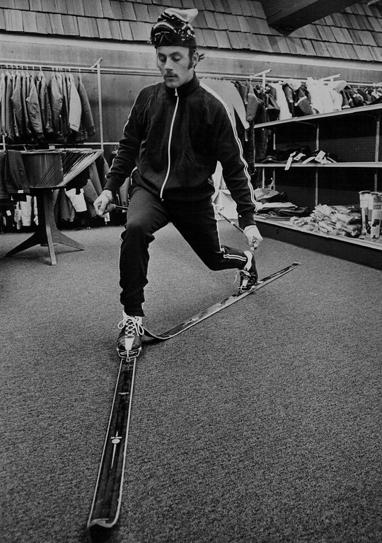 . Ski Techniques Demonstrated in 1971 Art Thomson, a certified ski instructor will teach sports skills at Gart Bros. The Denver Post