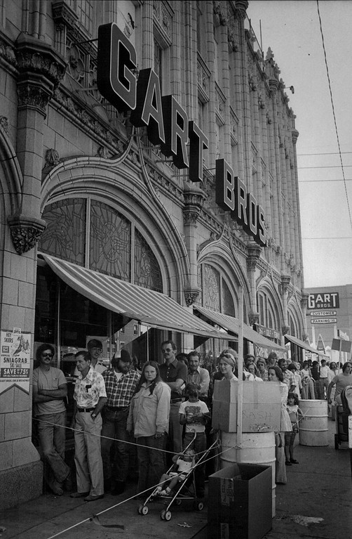 . Gart Brothers Sporting Goods at 1000 Broadway, Denver 1977.  Credit: Denver Post John J. Sunderland