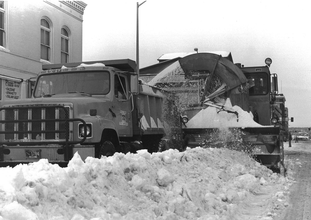 . Cleaning up after the Blizzard Of \'82. Denver Post Library Archive