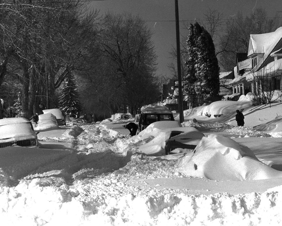 . Starting to dig out after the Blizzard of \'82. Denver Post Library Archive