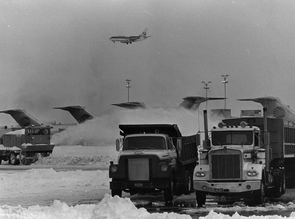 . Stapleton airport during the Blizzard of \'82. Denver Post Library Archive