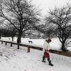 Walk in snow Boston St
