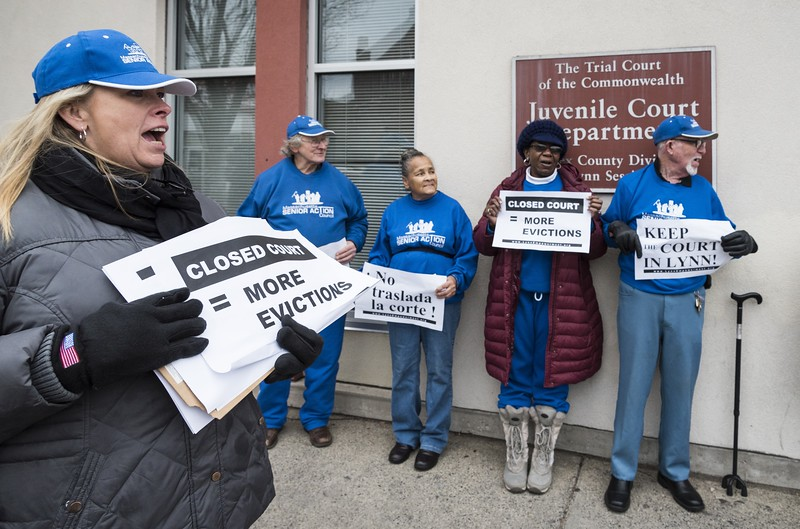 Housing Court protest