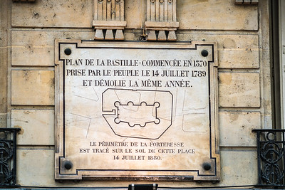 Plaque at the site of the Bastille