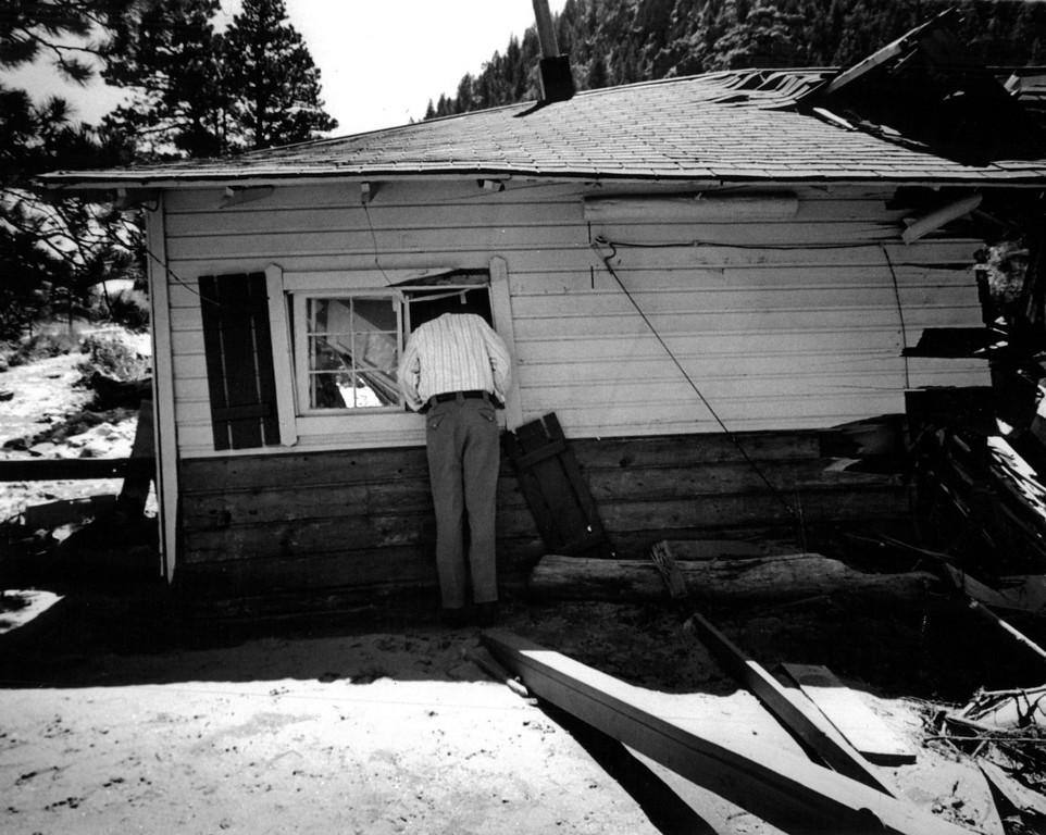 . AUG 2 1976  Big Thompson River Canyon (1976 Flood)  (Bill Johnson/ The Denver Post)