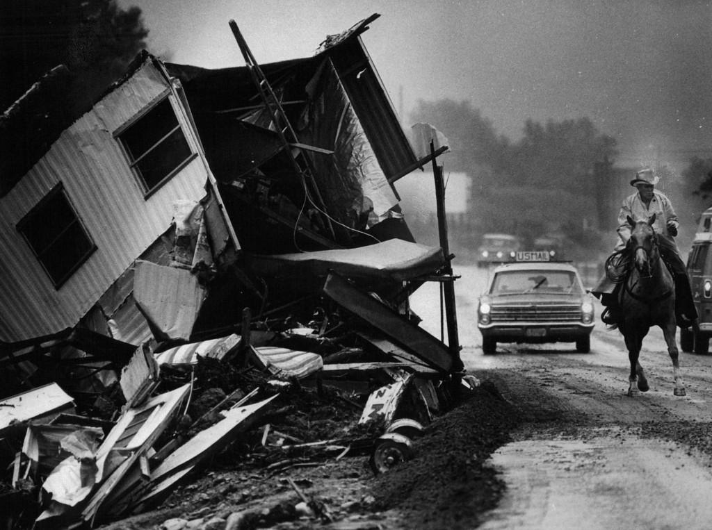 . AUG 2 1976 - Big Thompson River Canyon. (Steve Larson/ The Denver Post)
