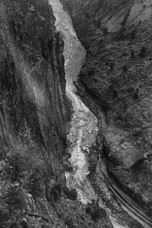 . AUG 1 1976  Big Thompson River Canyon (1976 Flood)  (Dave Buresh/ The Denver Post)
