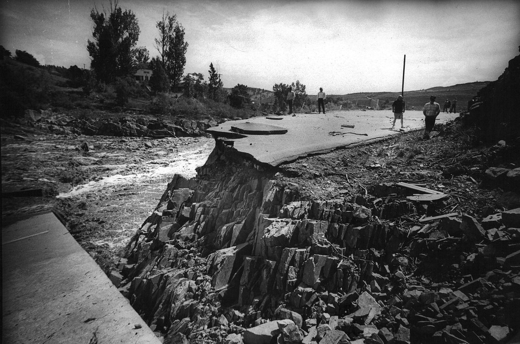 . AUG 2 1976  Big Thompson River Canyon (1976 Flood)  (David Cupp/ The Denver Post)