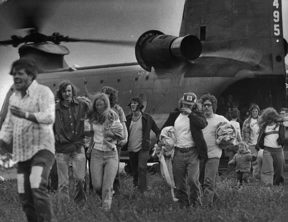 . AUG 1 1976  Big Thompson River Canyon (1976 Flood)  (John J. Sunderland/ The Denver Post)