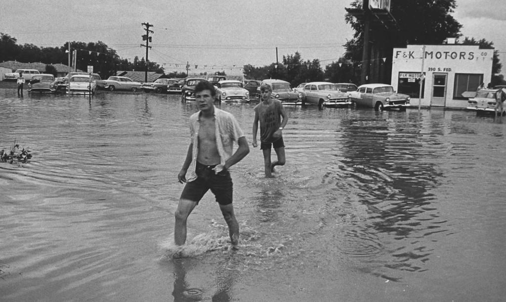 . JUL 25 1965 - (L to R) Tom Larkin, 19, 757 So Raritan; Herb Bealmar, 17, 243 So Lowell Walk thru so federal & W. Dakota Ave. (Ed Maker/ The Denver Post)