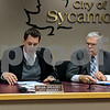 Sycamore City Manager Brian Gregory discusses the Illinois Environment Protection Agency loan application with the City Council on Tuesday. The loan will allow the city to expand the wastewater treatment plant to a capacity that should see it through the next 20 to 30 years.