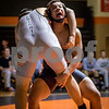 Sam Buckner for Shaw Media.<br /> Niels Lewerentz of DeKalb takes down Ulysses Frias-Martinez in the 195lb match on Thursday January 5, 2017.