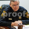 Eric Olson - eolson@shawmedia.com<br /> DeKalb County Sheriff Roger Scott talks during an interview at the Daily Chronicle on Friday, Jan. 6, 2017 in DeKalb.