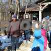 Sarah Tobias gets ready to lead the Wee Naturalist class on a nature hike in Russell Woods Forest Preserve.