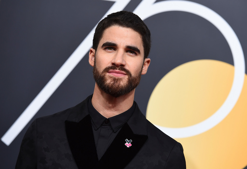 . Darren Criss arrives at the 75th annual Golden Globe Awards at the Beverly Hilton Hotel on Sunday, Jan. 7, 2018, in Beverly Hills, Calif. (Photo by Jordan Strauss/Invision/AP)