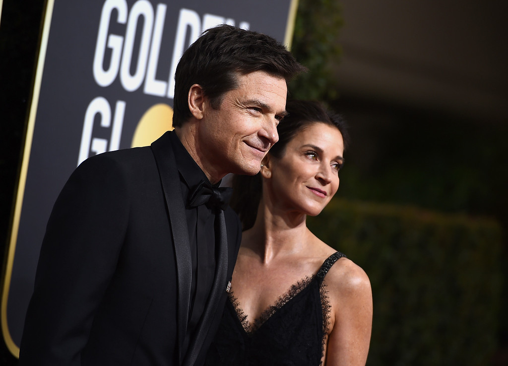 . Jason Bateman, left, and Amanda Anka arrive at the 75th annual Golden Globe Awards at the Beverly Hilton Hotel on Sunday, Jan. 7, 2018, in Beverly Hills, Calif. (Photo by Jordan Strauss/Invision/AP)