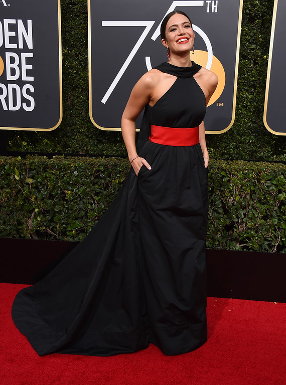 . Mandy Moore arrives at the 75th annual Golden Globe Awards at the Beverly Hilton Hotel on Sunday, Jan. 7, 2018, in Beverly Hills, Calif. (Photo by Jordan Strauss/Invision/AP)