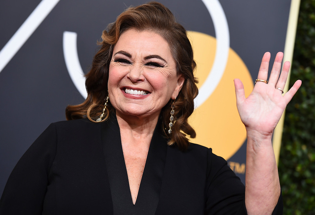 . Roseanne Barr arrives at the 75th annual Golden Globe Awards at the Beverly Hilton Hotel on Sunday, Jan. 7, 2018, in Beverly Hills, Calif. (Photo by Jordan Strauss/Invision/AP)