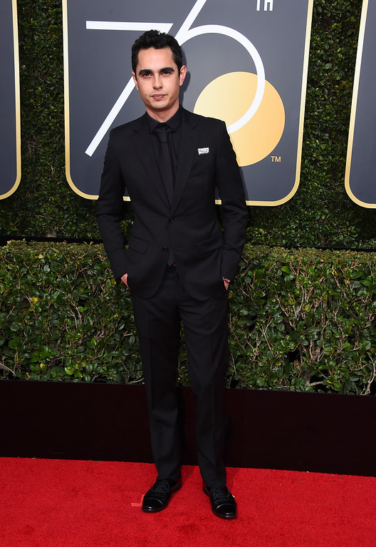 . Max Minghella arrives at the 75th annual Golden Globe Awards at the Beverly Hilton Hotel on Sunday, Jan. 7, 2018, in Beverly Hills, Calif. (Photo by Jordan Strauss/Invision/AP)
