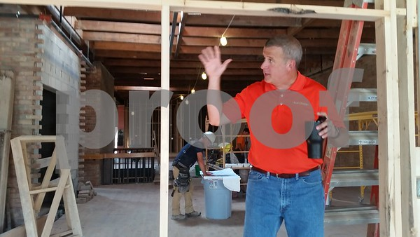 Sundog IT owner Cohen Barnes talks in August about the northern-most space on the second floor of the new facility his company is moving into at 230 E. Lincoln Highway in DeKalb.