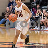Sam Buckner for Shaw Media.<br /> Sanaa Finner takes the ball up the court on Tuesday January 9, 2018.