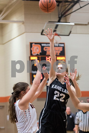 Sam Buckner for Shaw Media.<br /> Maddy Wheatley puts up a shot on Tuesday January 9, 2018 at Dekalb High School.