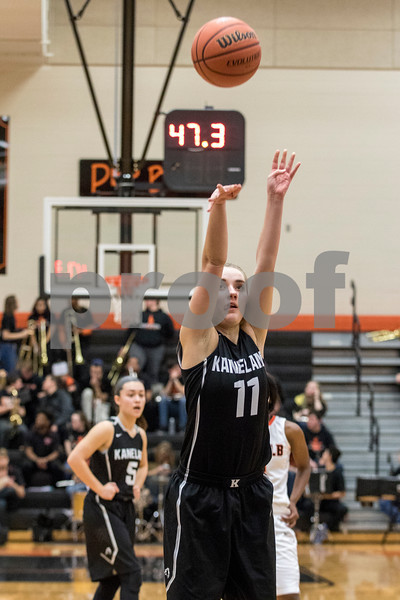 Sam Buckner for Shaw Media.<br /> Jennifer Weber shoots a free throw on Tuesday January 9, 2018 at Dekalb High School.