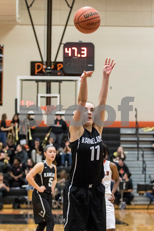 Sam Buckner for Shaw Media.<br /> Jennifer Weber shoots a free throw on Tuesday January 9, 2018 at Dekalb High School.