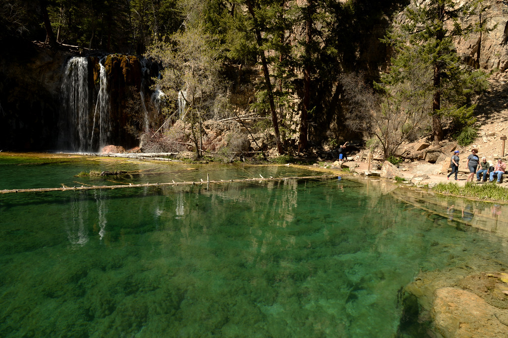 . Glenwood Springs, CO - May 13, 2016: Hanging Lake, as breathtaking a spot as you can find in Colorado\'s high country, has been at risk from the crush of visitors who stomp up the trail and walk around -- and sometimes in -- the lake and its feeder waterfall. (Photo by Hyoung Chang/The Denver Post)