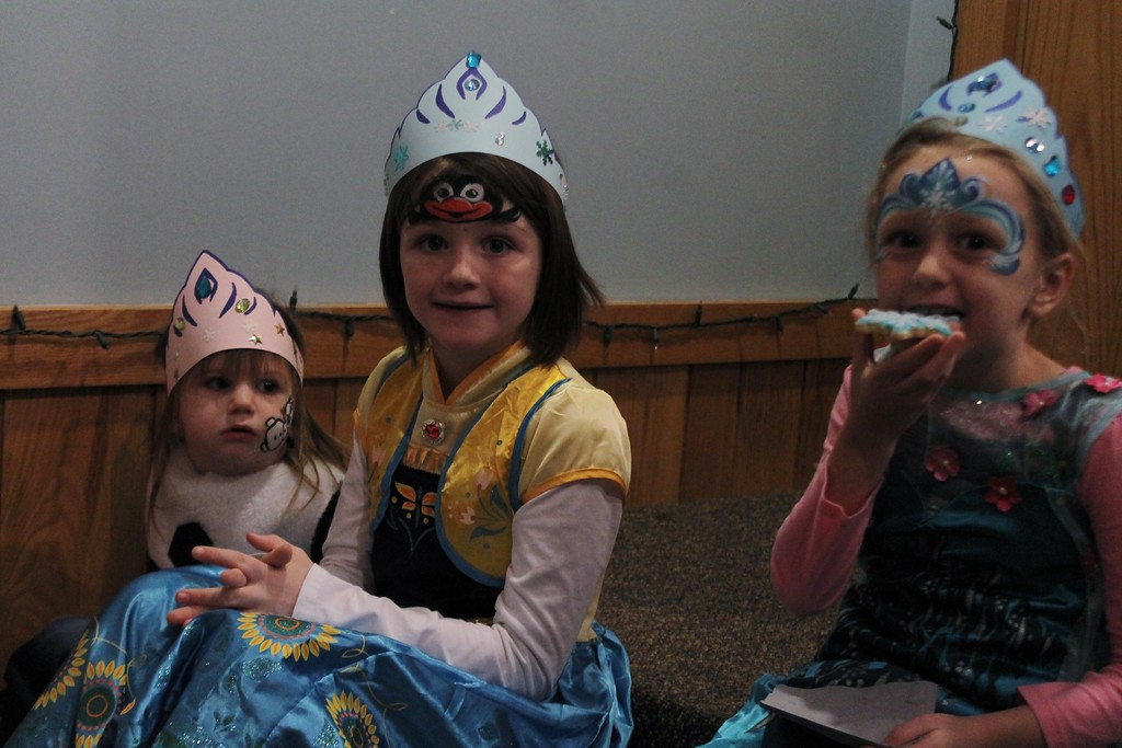 . Sophia Hankinson, 7, along with her two sisters Maya, 4, and Cora, 2, attend The Geauga Parks Frozen Fest each year, and dress up for the event. (Kristi Garabrandt/The News-Herald)