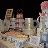 A variety of cakes by Jennifer Drendel, owner of Sugar on Top, attracted many couples who were shopping at the wedding expo.