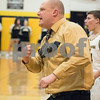 Sam Buckner for Shaw Media.<br /> Head Coach Ryan Picolotti celebrates a basket at the end of the third quarter against Rock Falls on Tuesday January 16, 2018.