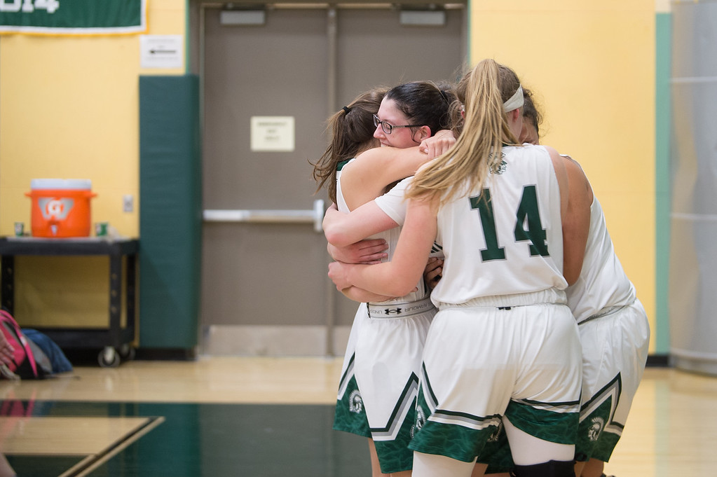 . 11819 OAKMONT-  Oakmont senior captain Kylie Lison celebrates her 1000th high school career point in Friday\'s game at home against Quabbin.  SENTINEL & ENTERPRISE JEFF PORTER