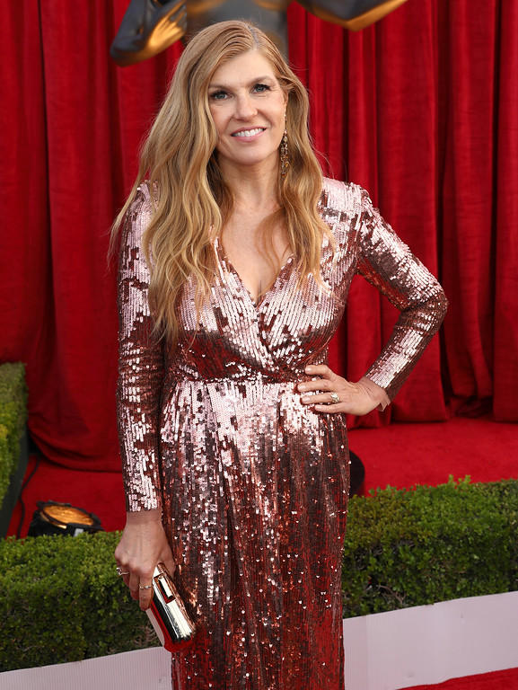 . Connie Britton arrives at the 24th annual Screen Actors Guild Awards at the Shrine Auditorium & Expo Hall on Sunday, Jan. 21, 2018, in Los Angeles. (Photo by Matt Sayles/Invision/AP)