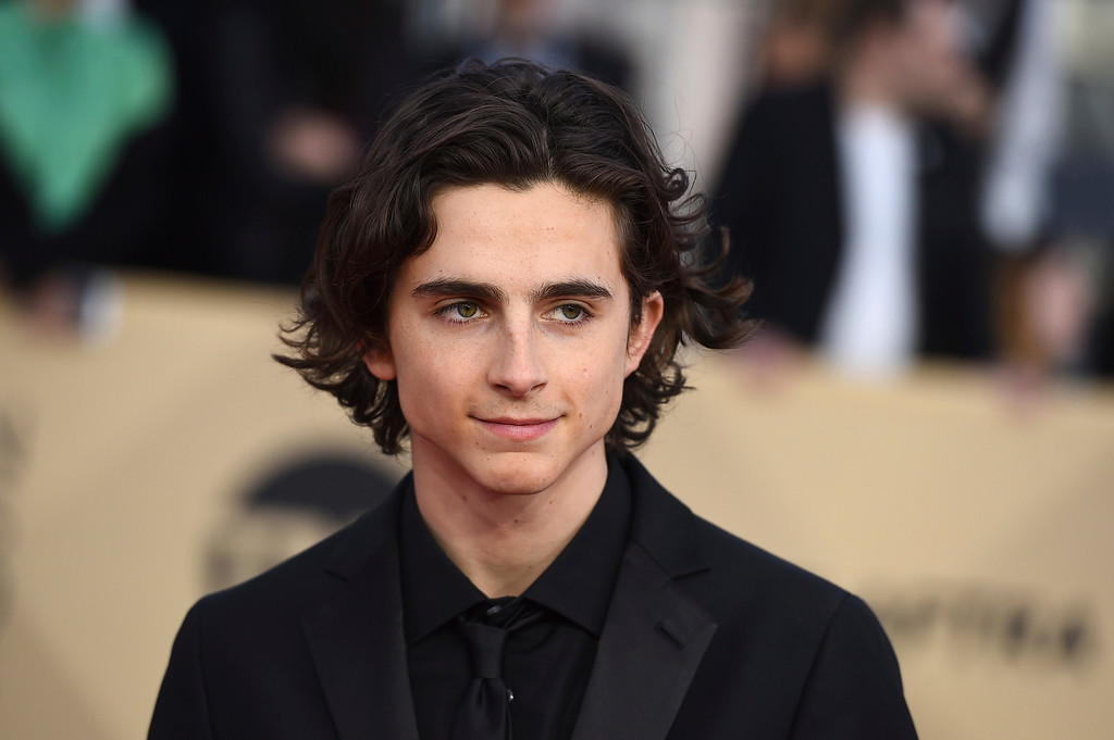 . Timothee Chalamet arrives at the 24th annual Screen Actors Guild Awards at the Shrine Auditorium & Expo Hall on Sunday, Jan. 21, 2018, in Los Angeles. (Photo by Jordan Strauss/Invision/AP)