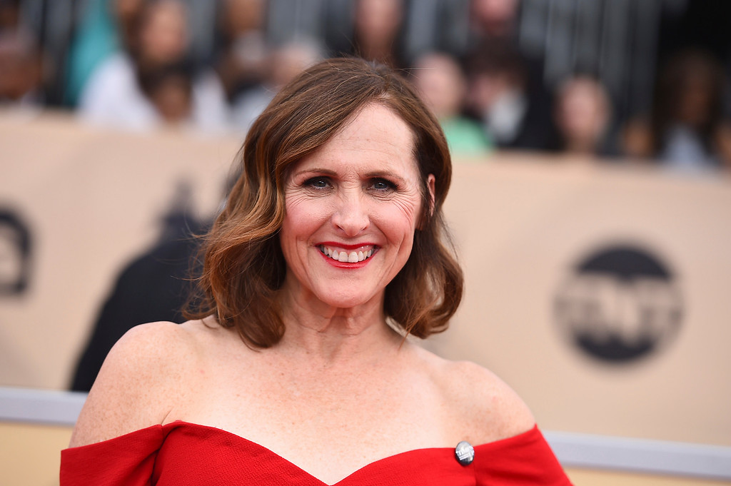 . Molly Shannon arrives at the 24th annual Screen Actors Guild Awards at the Shrine Auditorium & Expo Hall on Sunday, Jan. 21, 2018, in Los Angeles. (Photo by Jordan Strauss/Invision/AP)