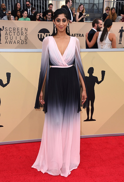 . Sunita Mani arrives at the 24th annual Screen Actors Guild Awards at the Shrine Auditorium & Expo Hall on Sunday, Jan. 21, 2018, in Los Angeles. (Photo by Jordan Strauss/Invision/AP)