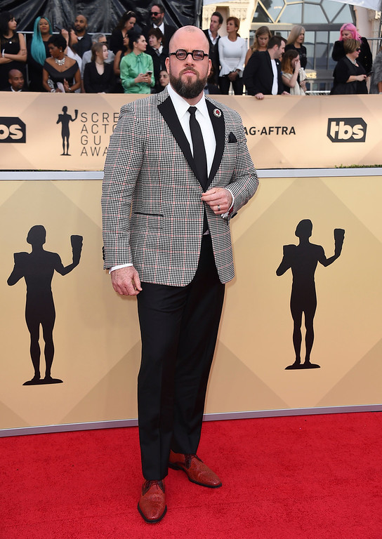 . Chris Sullivan arrives at the 24th annual Screen Actors Guild Awards at the Shrine Auditorium & Expo Hall on Sunday, Jan. 21, 2018, in Los Angeles. (Photo by Jordan Strauss/Invision/AP)